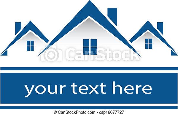 Immobilienhäuser Logo - csp16677727
