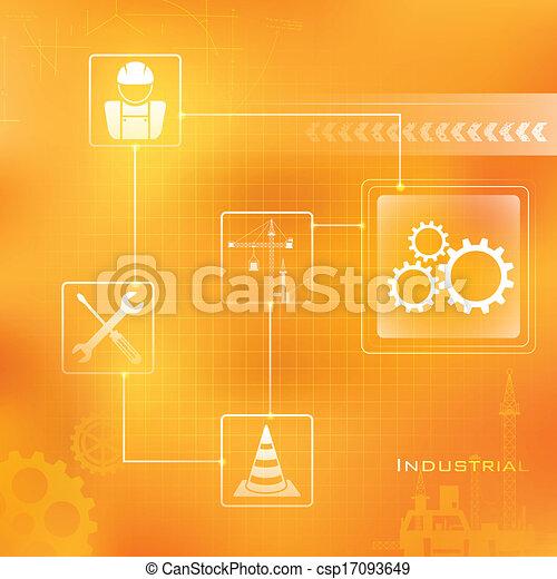 industrieller Hintergrund. - csp17093649