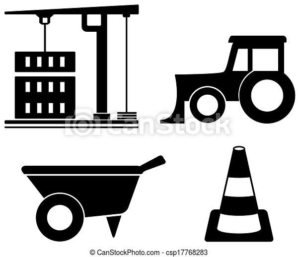 Industrieset mit Bauobjekten. - csp17768283