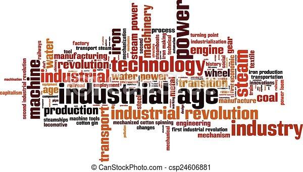 Industriezeit-Wortwolke - csp24606881