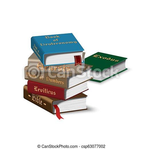 Isomerische Bücher stapeln - csp63077002
