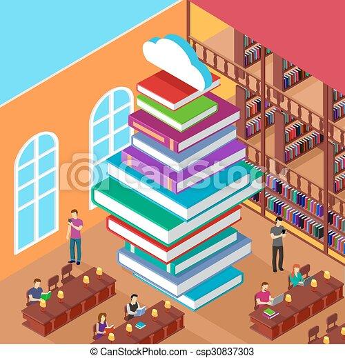 Isomerische Bibliothek. Stapelbücher. Konzeptwissen - csp30837303