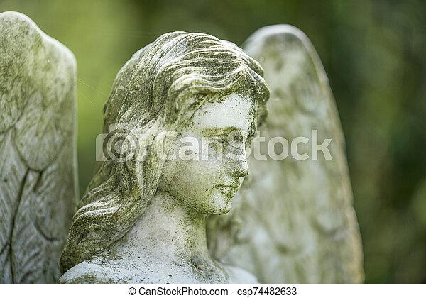 jahrhundert, unbekannt, 19., detail, künstler, sculpture., engelchen - csp74482633