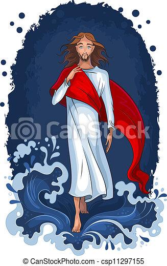 Jesus geht auf Wasser - csp11297155