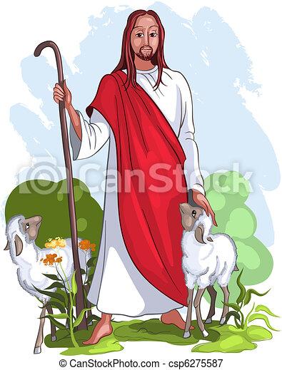 Jesus ist ein guter Hirte - csp6275587