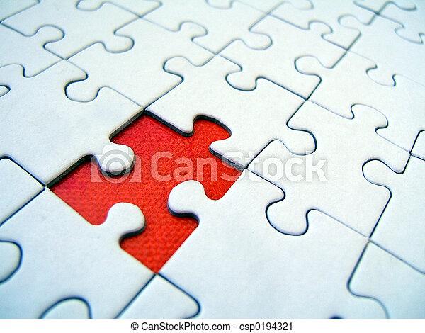 Jigsaw-Muster - csp0194321