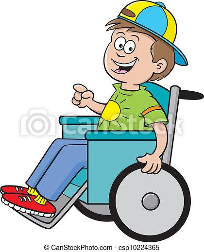 Junge im Rollstuhl - csp10224365