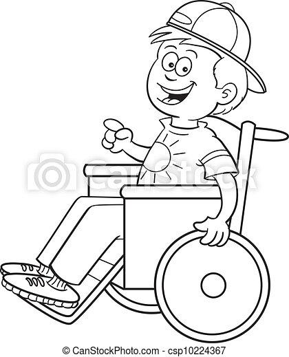 Junge im Rollstuhl - csp10224367