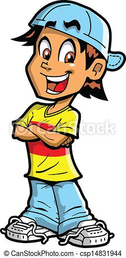 Junge mit gekreuzten Armen - csp14831944