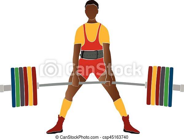 Junger Athleten-Powerlifter. - csp45163740