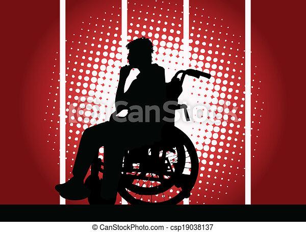 Junger Junge im Rollstuhl. - csp19038137