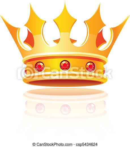königliche krone, gold - csp5434624