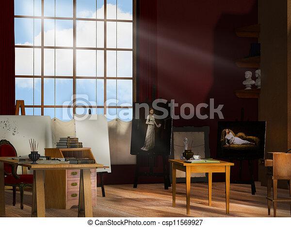 Künstler-Studio - csp11569927