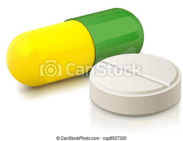 Kapsel und Pille - csp8527320