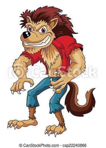 Werwolf-Cartoon - csp22240866