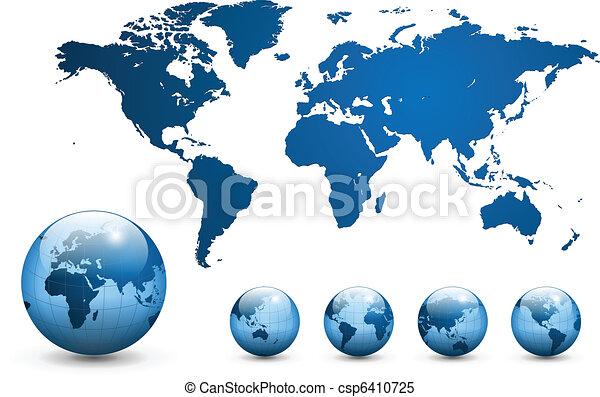 Karte des Weltvektors. - csp6410725