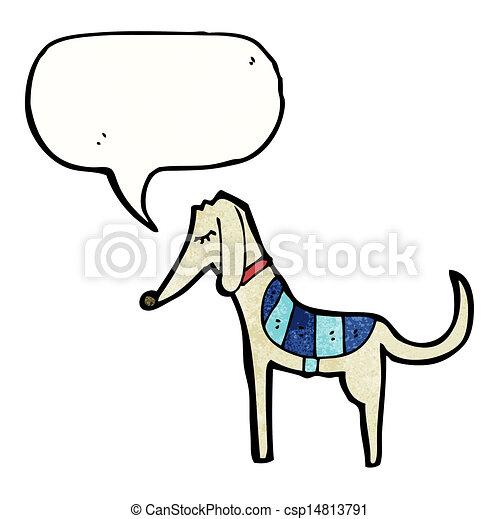 Kartoon Greyhound. - csp14813791