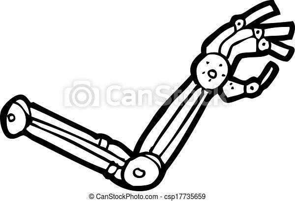 Kartoon-Roboterarm. - csp17735659