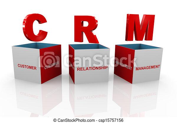 kasten, kunde, geschäftsführung, beziehung, -, crm, 3d - csp15757156