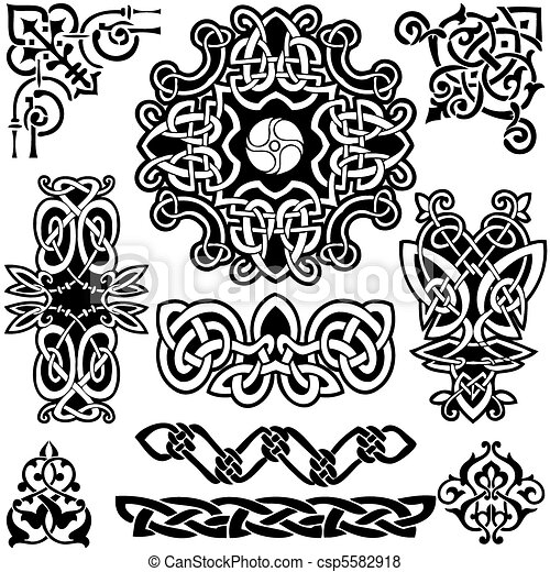 Eine keltische Vektorgrafik. - csp5582918