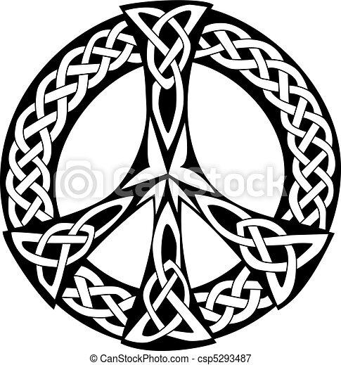 Keltisches Design - Friedenssymbol - csp5293487