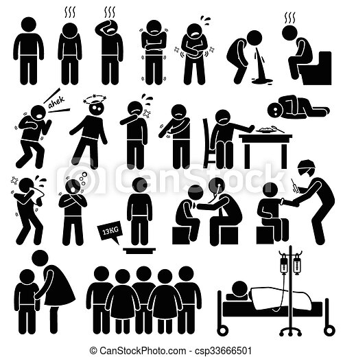 Kinder kranke Krankheit - csp33666501