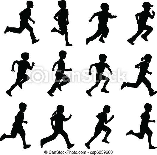 Kinder mit Silhouette - csp6259660