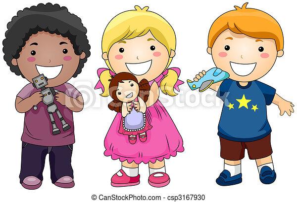 Kinder mit Spielzeug - csp3167930