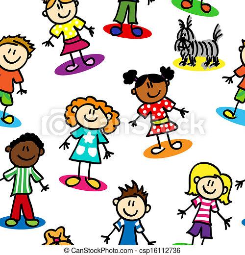 Kinder ohne Stiel - csp16112736