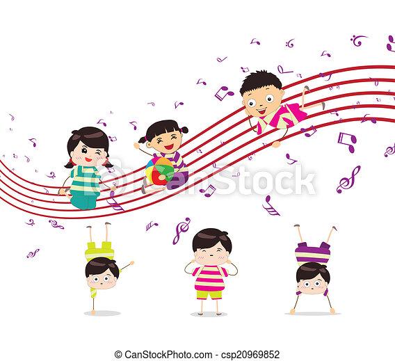 Kinder spielen Musik. - csp20969852