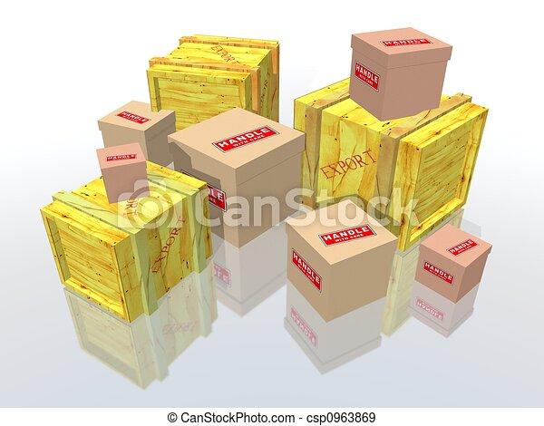 Kisten und Pakete. - csp0963869