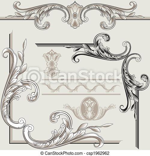 Klassische Dekorationselemente - csp1962962