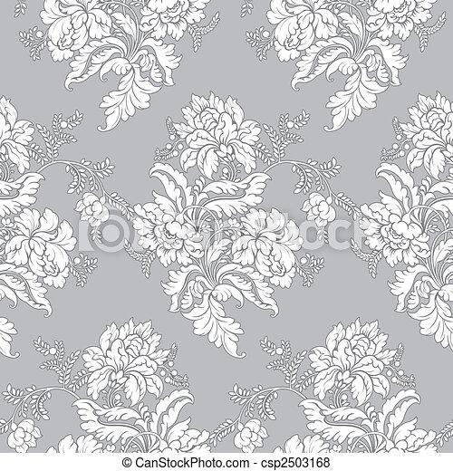 Klassisches Blumenmuster - nahtlos. - csp2503168