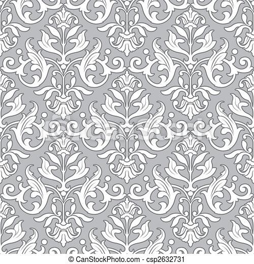 Klassisches Blumenmuster - nahtlose Tapete. - csp2632731