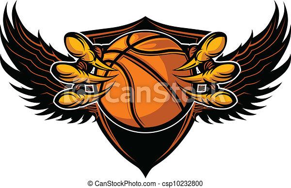 Eagle-Basketball-Talons und Klauenvektor-Illustration - csp10232800