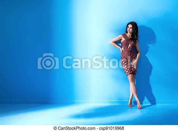 kleiden, flexibel, tragen, tänzer, poppig, elegant, anfall - csp91019968