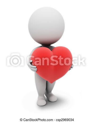 klein, people-heart, 3d - csp2969034