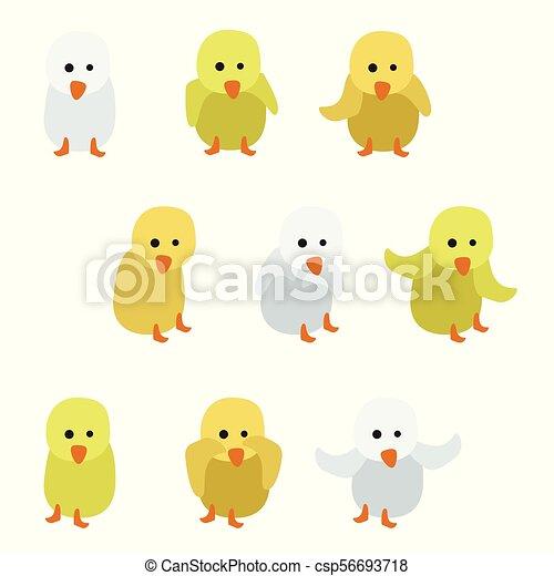 Kleine Hühner. - csp56693718
