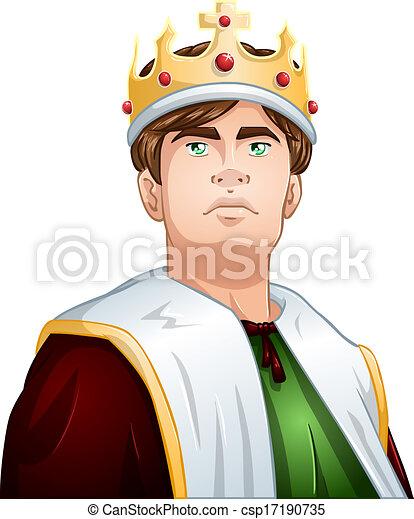 Junger König mit krönenden Schultern - csp17190735