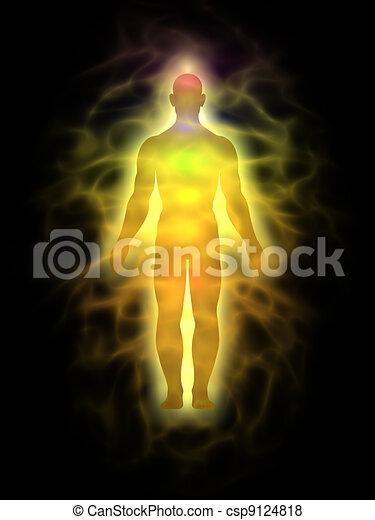 Mensch - Energiekörper - Aura - csp9124818