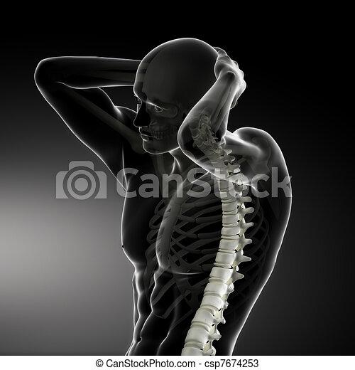 Männlicher Körperrückstandsscan - csp7674253