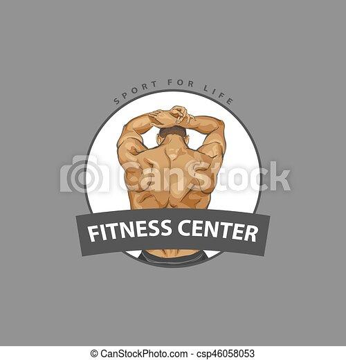 koerper, plakat, dein, muskulös - csp46058053