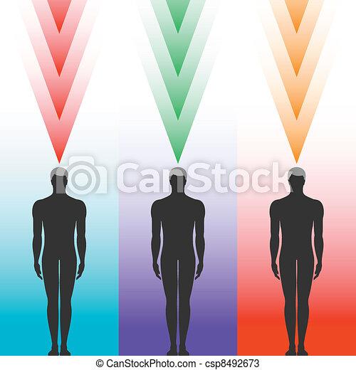 Menschliche Körpersilhouette - csp8492673