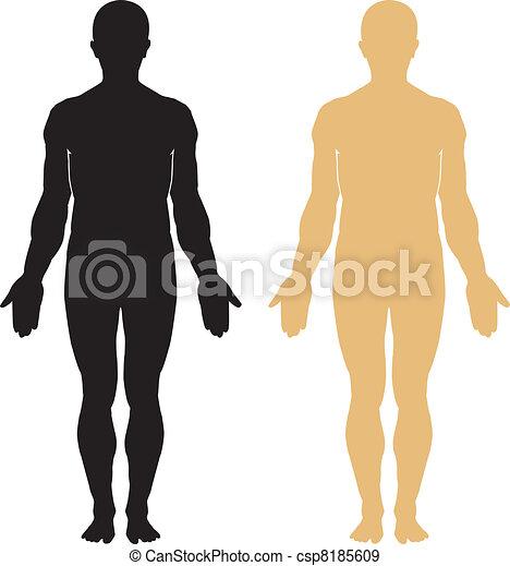 koerper, silhouette, menschliche  - csp8185609