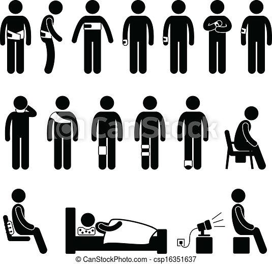 koerper, unterstuetzung, verletzung, schmerz, menschliche  - csp16351637