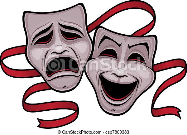 Komödien und Theatermasken - csp7800383