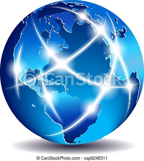 Kommunikation weltweiter Handel - csp9248311