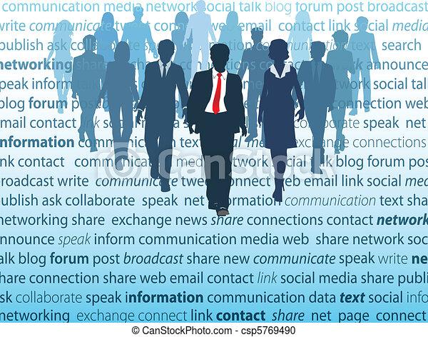 Konzepte der sozialen Netzwerke der Unternehmer - csp5769490