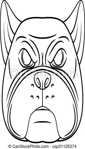 Bulldog-Kopf - csp31125374