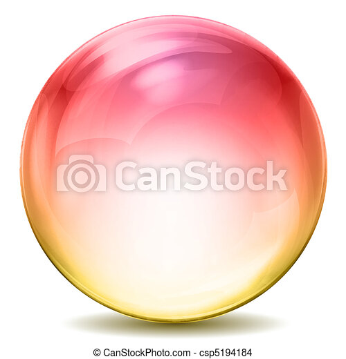 Farbige Kristallkugel - csp5194184